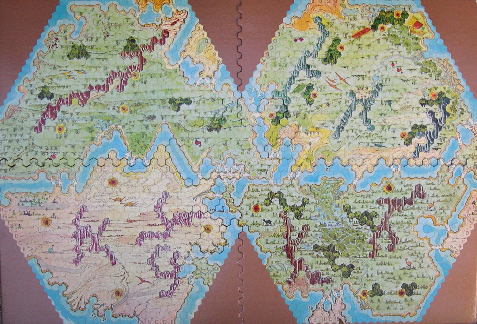 Souvenir d'hexagone Zargos-carte